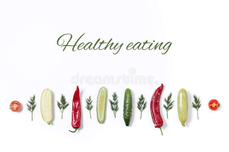 Линия различных овощей и плодов стоковое фото