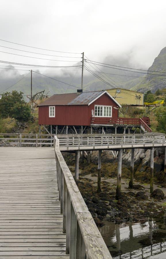 Линия реки Норвегии стоковая фотография rf