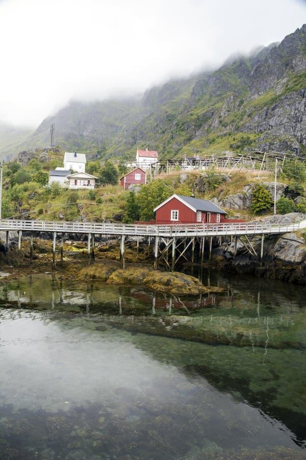 Линия реки Норвегии стоковое изображение rf
