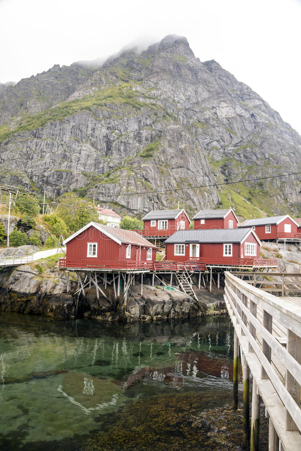 Линия реки Норвегии стоковые фото