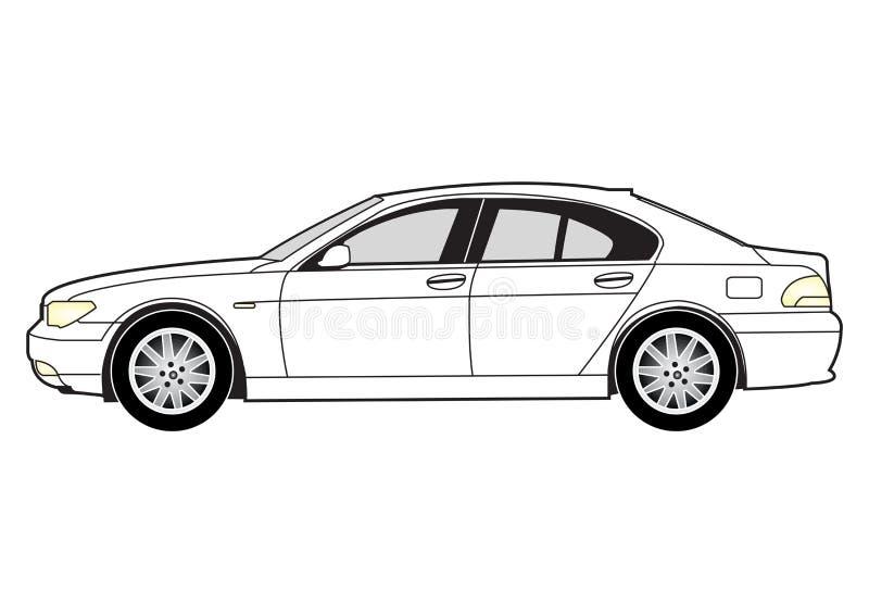 линия салон автомобиля искусства иллюстрация штока