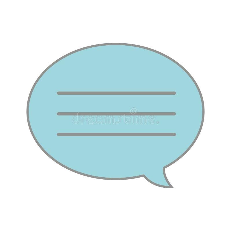 Линия связь сообщения пузыря болтовни текста цвета иллюстрация вектора
