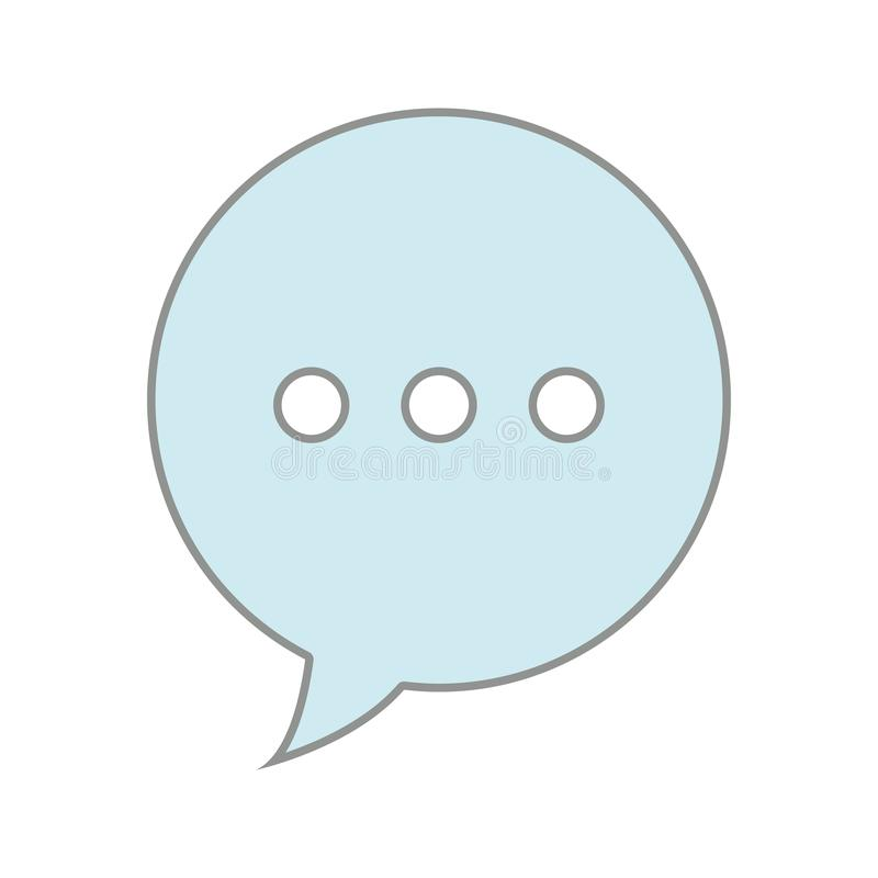 Линия связь текстового сообщения пузыря болтовни цвета иллюстрация штока