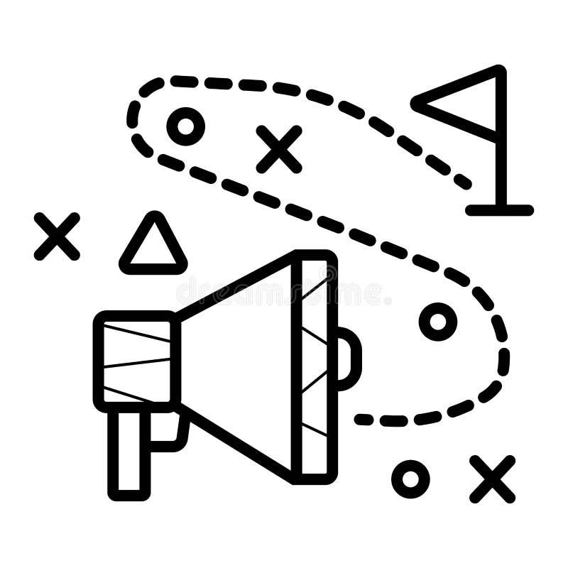 Линия символа знака дела маркетинга значка изолированная иллюстрацией тонкая для сети, современного minimalistic плоского вектора иллюстрация вектора