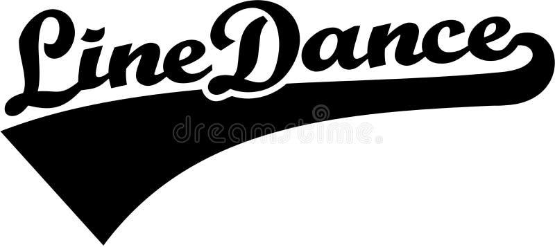 Линия слово танца ретро иллюстрация штока