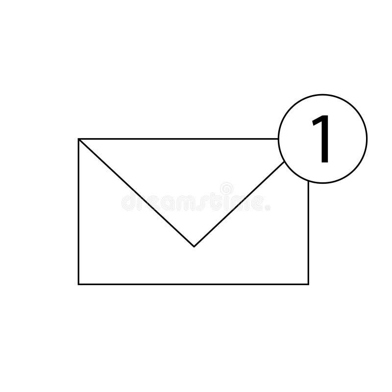 Линия сообщения значок, значок плана почты плоский иллюстрация вектора