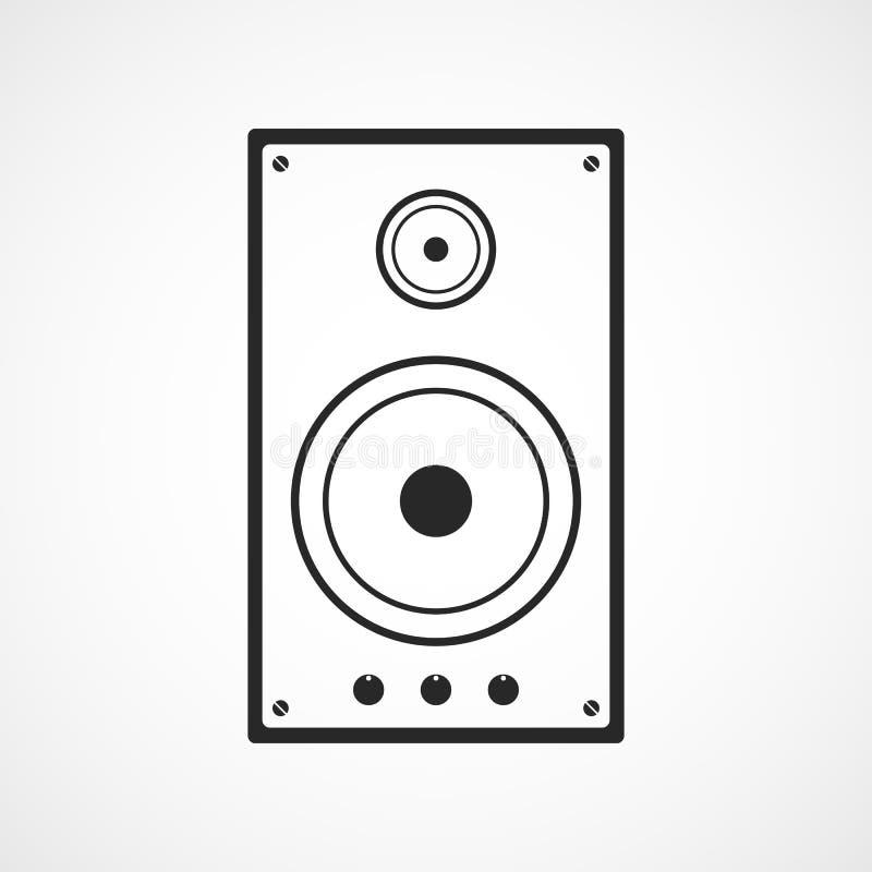 Линия столбца значок музыки также вектор иллюстрации притяжки corel бесплатная иллюстрация