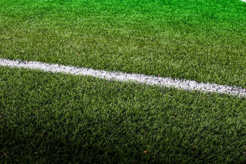 Линия футбольное поле стоковое фото rf