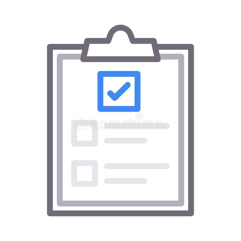 Линия цвета значок доски сзажимом для бумаги вектора бесплатная иллюстрация