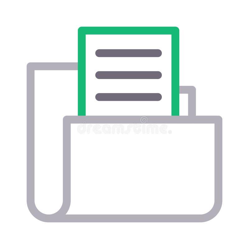 Линия цвета значок папки вектора бесплатная иллюстрация