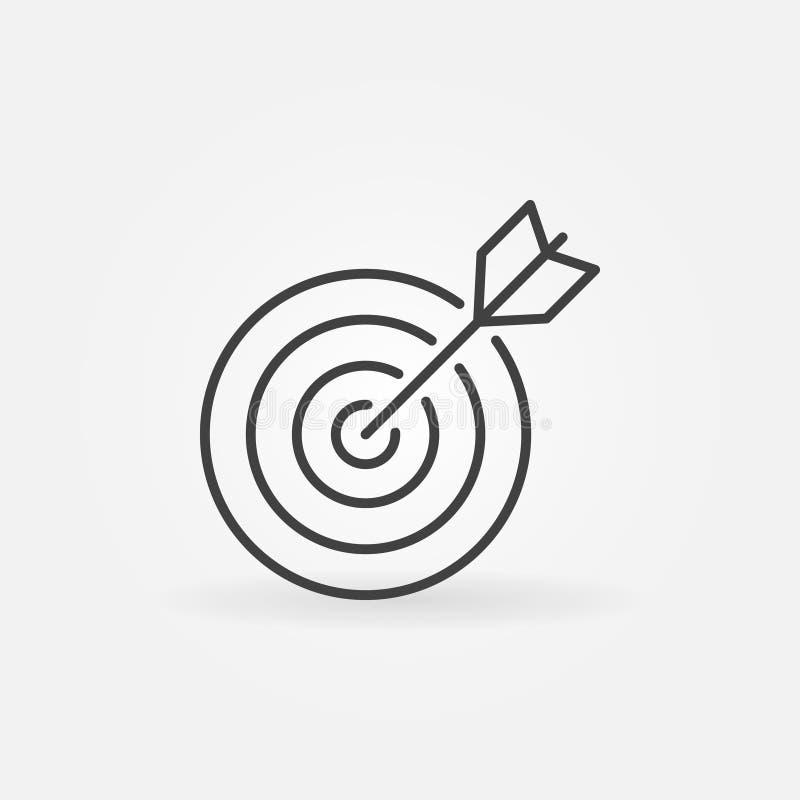 Линия цели значок иллюстрация вектора