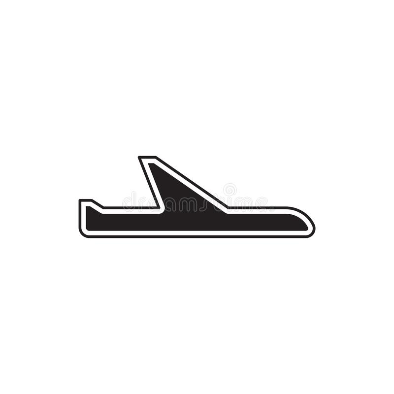 Линия шаблон авиакомпаний логотипа иллюстрация вектора