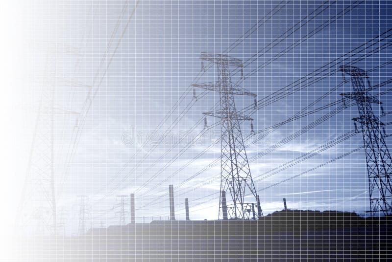 линия электропередач предпосылки стоковое фото rf