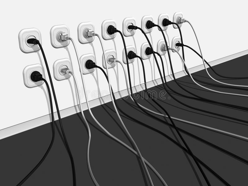 Линия Electro 2 стоковое фото