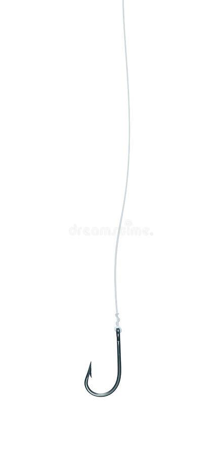 линия fishhook изолированная рыболовством стоковые фото