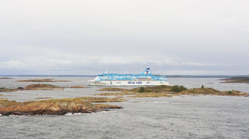 Линия Silja шлюпки стоковое фото rf