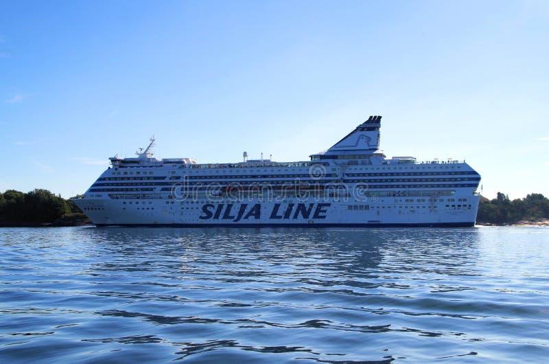Линия Silja cruiseferry стоковые фото