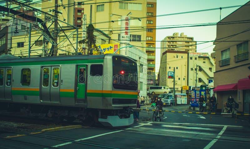 Линия Yamanote в токио, Японии стоковые фото