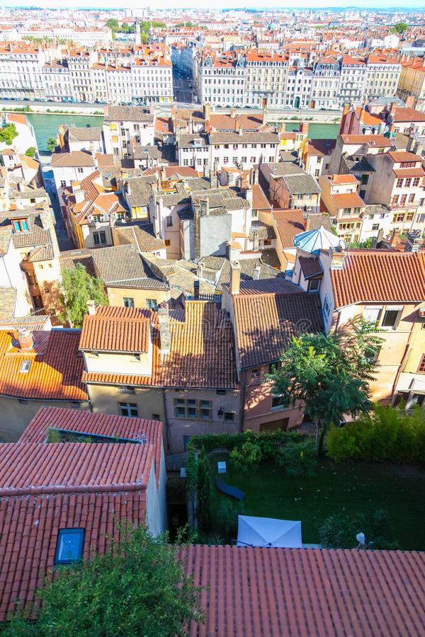 Лион, крыши стоковые изображения rf