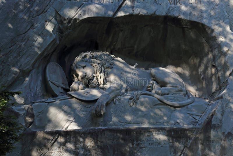 Лион Луцернского памятника стоковое фото rf