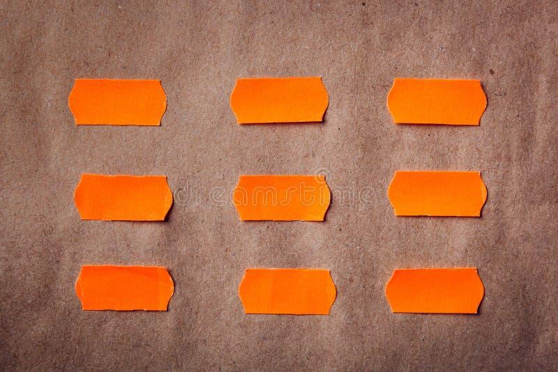 Липкие оранжевые примечания стоковая фотография rf