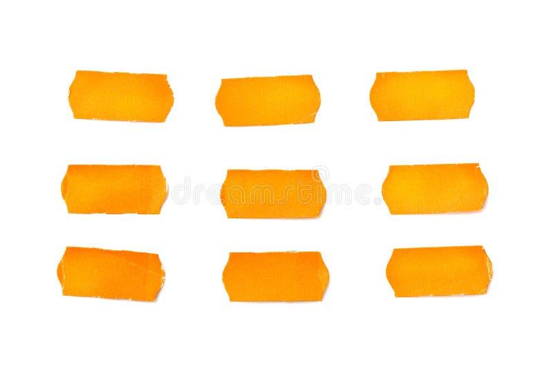 Липкие оранжевые примечания стоковые изображения rf