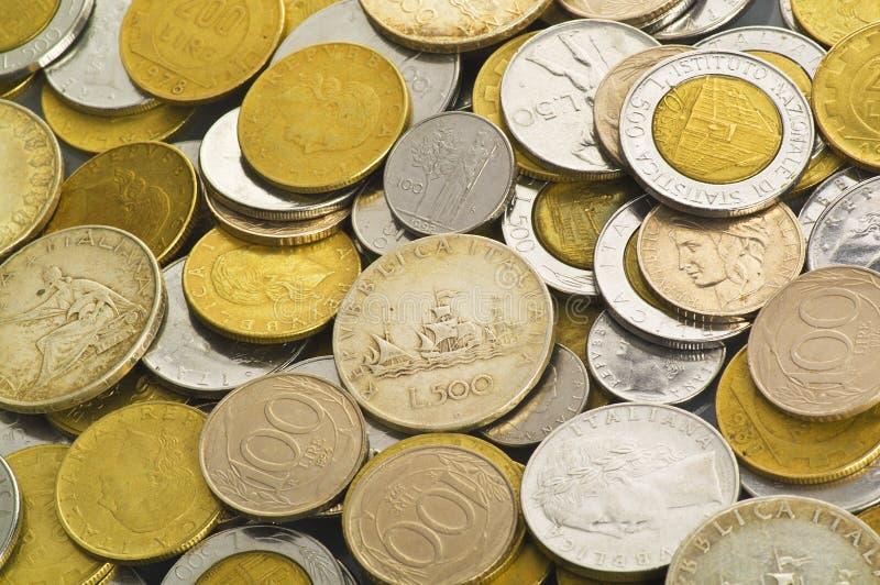 лира монетки итальянская стоковое фото rf