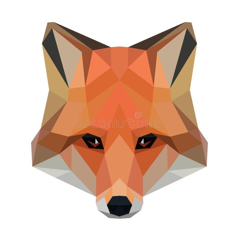 Лиса вектора полигональная изолированная на белизне Низкая поли иллюстрация собаки бесплатная иллюстрация
