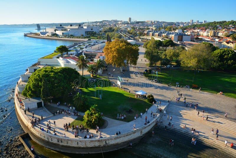 Лиссабон, взгляд от башни Belem стоковая фотография