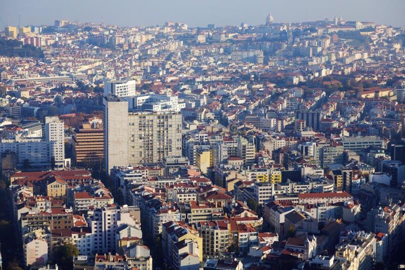 Лиссабон - вид с воздуха города стоковая фотография rf