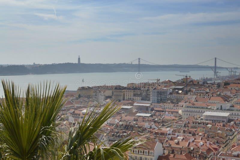 Лиссабон из замка стоковое фото