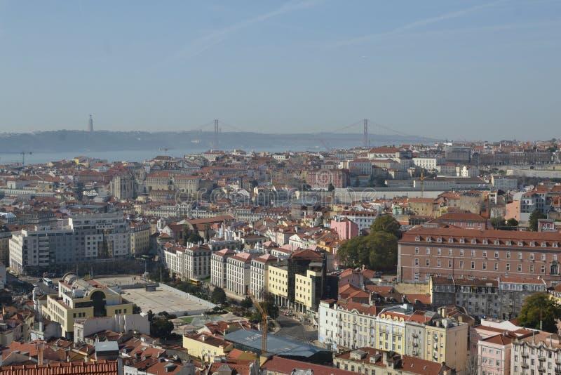 Лиссабон из Мирадоро-да-Граца стоковое изображение