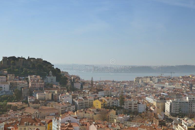 Лиссабон, Мирадоро-да-Сеньора-ду-Монте стоковая фотография