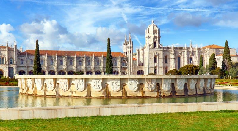 Лиссабон, монастырь Jeronimos или Hieronymites, Португалия стоковая фотография rf