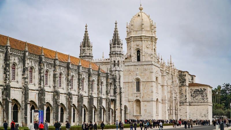 ЛИССАБОН, около 2017: Монастырь Jeronimos или монастырь Hieronymites Лиссабон континентальные столица и th ` s Европы самые запад стоковое фото rf