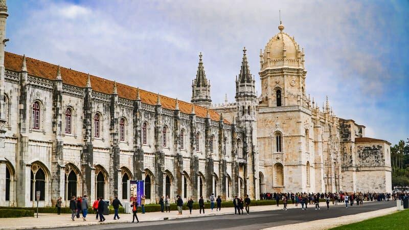 ЛИССАБОН, около 2017: Монастырь Jeronimos или монастырь Hieronymites Лиссабон континентальные столица и th ` s Европы самые запад стоковые изображения rf