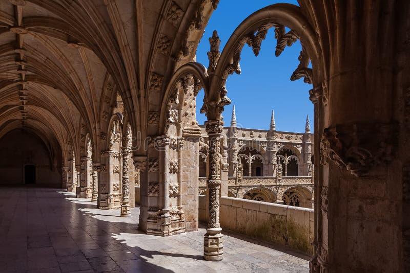 Лиссабон, Португалия - монастырь монастыря или аббатства Jeronimos в Лиссабоне, Португалии стоковое изображение rf