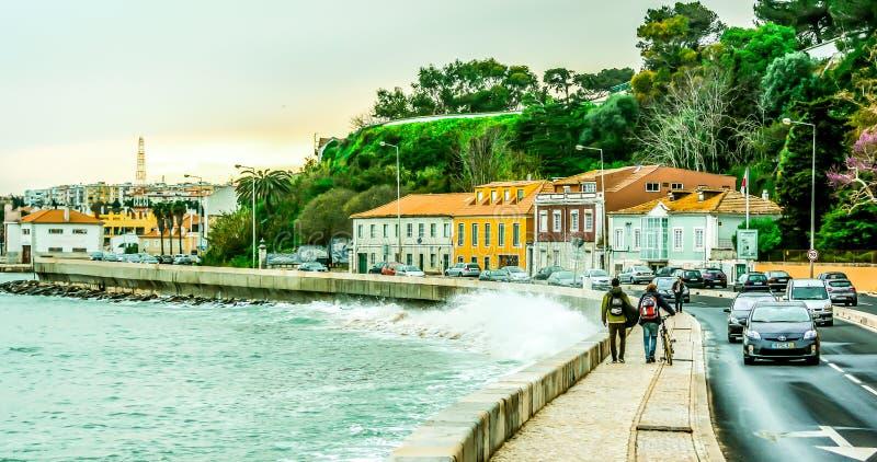 Лиссабон, Португалия, Атлантический океан стоковая фотография