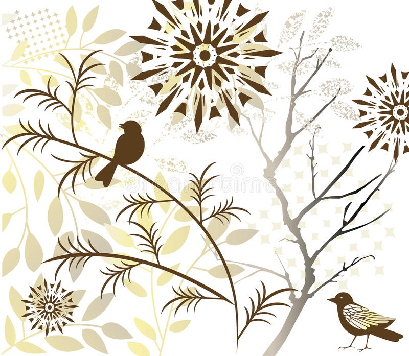 листво птицы бесплатная иллюстрация