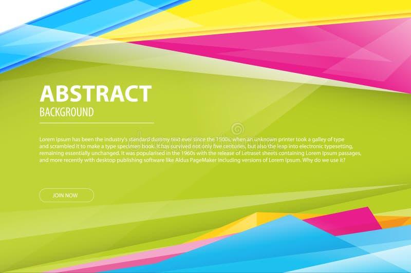 Листовка компании дизайна дела предпосылки конспекта геометрическая современная, летчик, шаблон крышки Абстрактная раскосная синь бесплатная иллюстрация