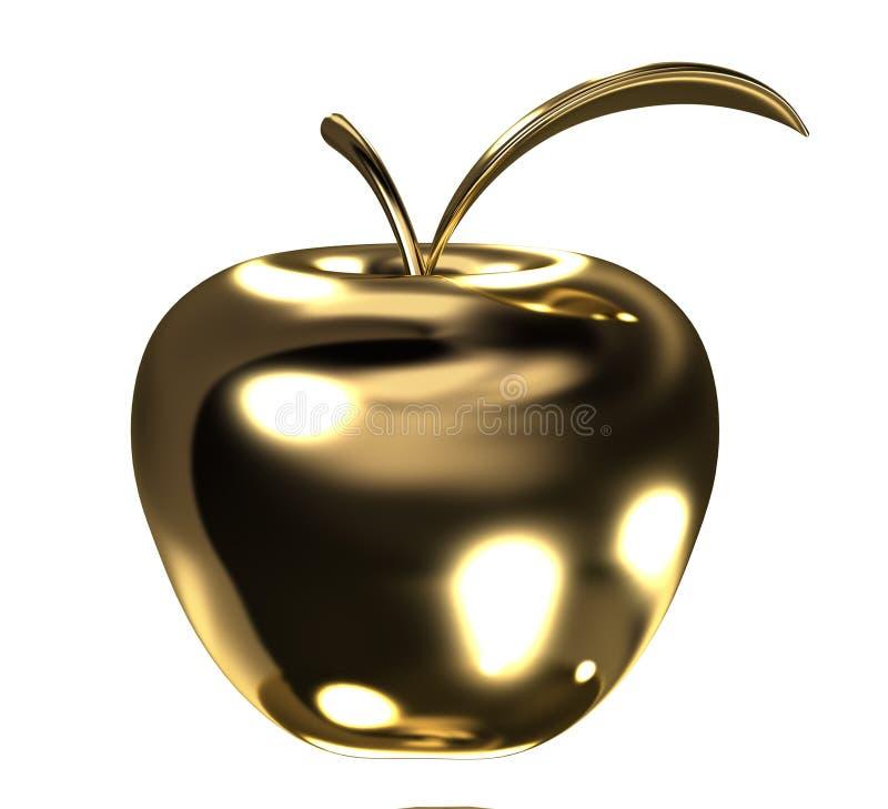 листовое золото яблока иллюстрация штока