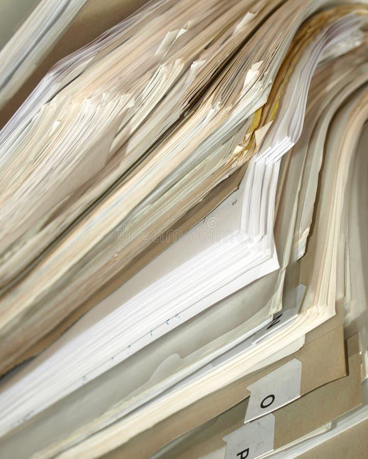 листы офиса скоросшивателей стоковое изображение rf