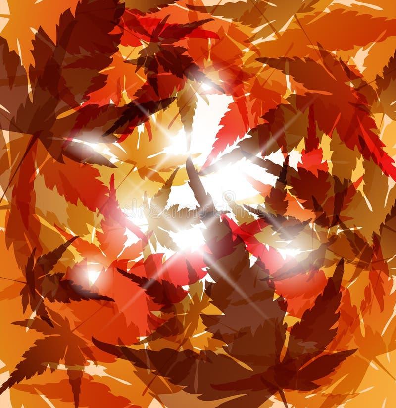 листья абстрактной предпосылки осени золотистые бесплатная иллюстрация