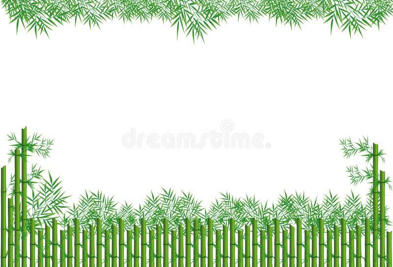 Листья бамбука иллюстрация штока