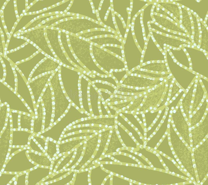 листья батика иллюстрация штока