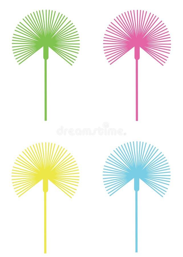 листья вентилятора сформировали бесплатная иллюстрация