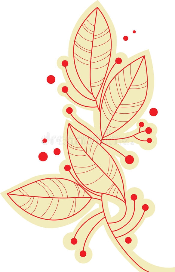 Листья ветви