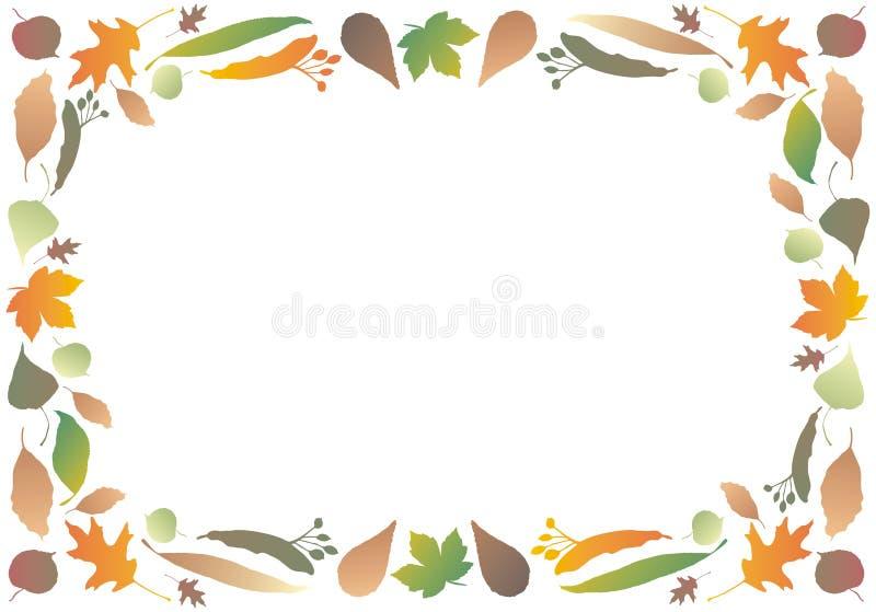 листья граници осени иллюстрация штока