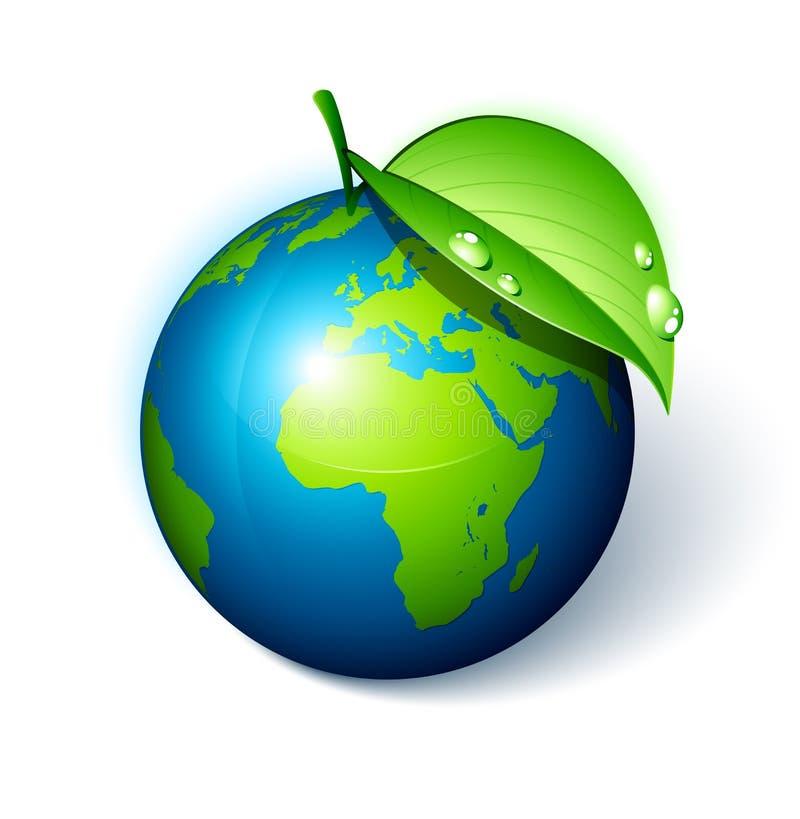 листья земли зеленые иллюстрация штока