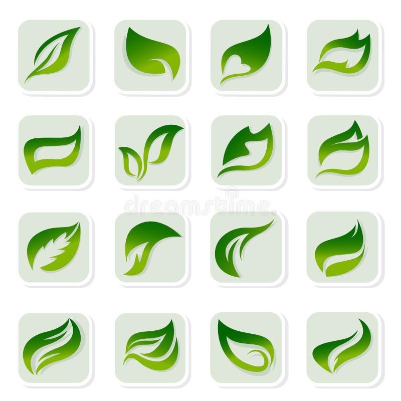 листья икон бесплатная иллюстрация